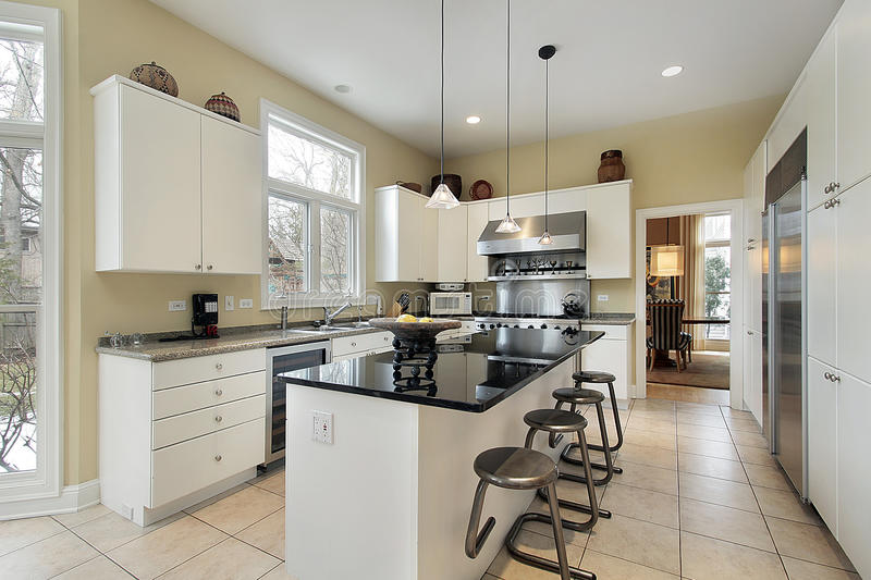 Download Kitchen with marble island stock photo. Image of family - 12656180