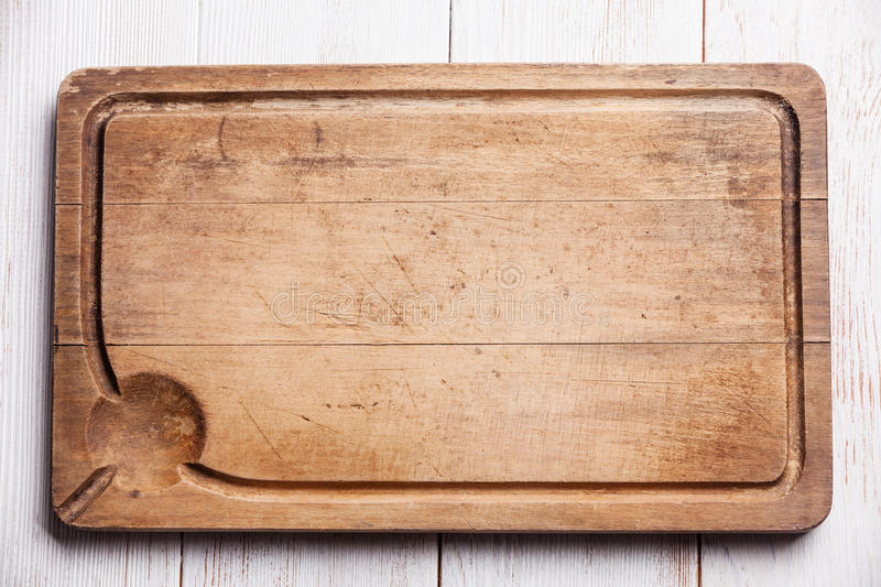 Kitchen meat Cutting board royalty free stock images