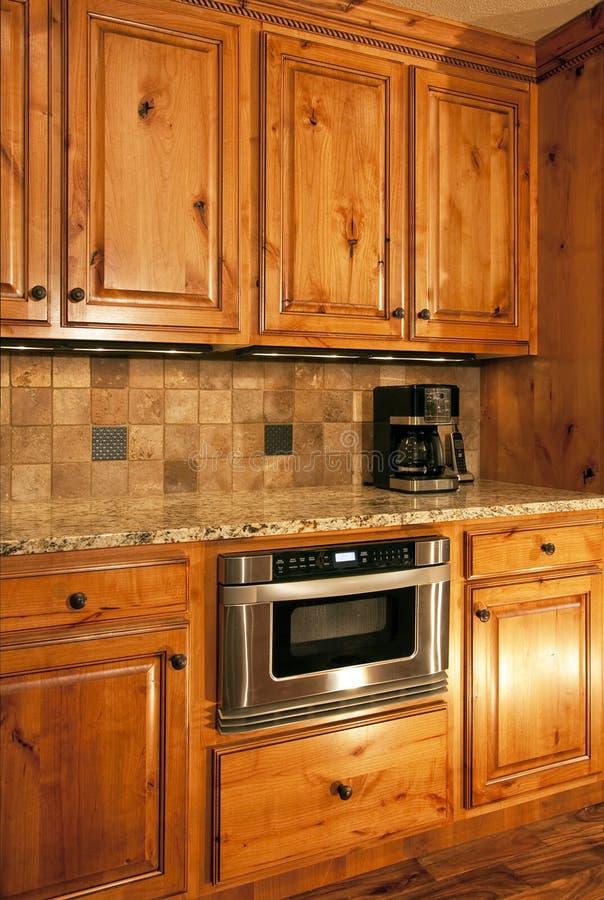 Kitchen microwave oven stock photo