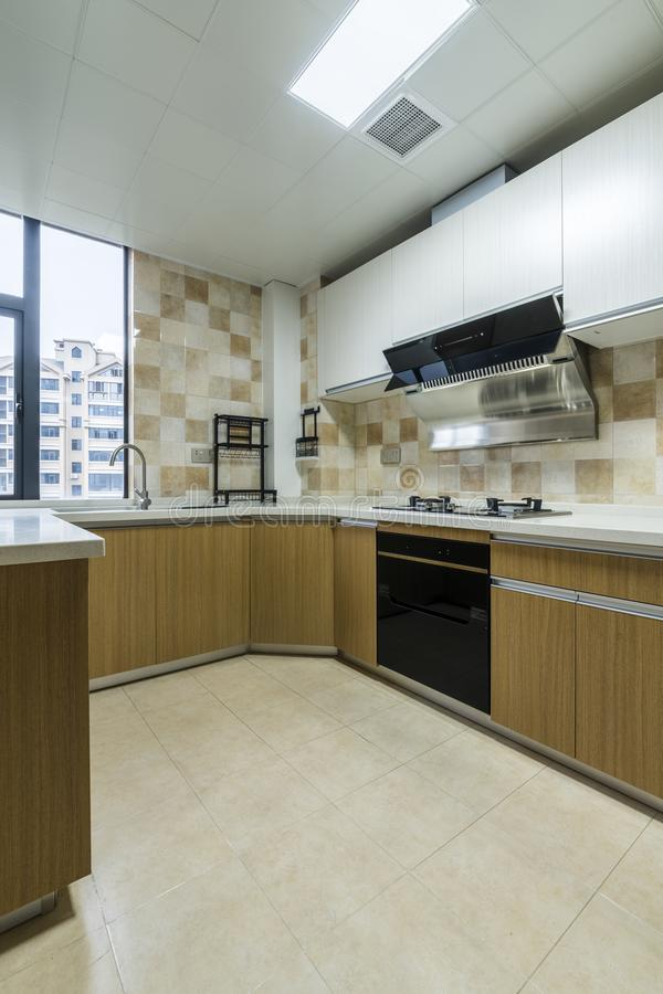 A Kitchen for a Modern Family stock photo