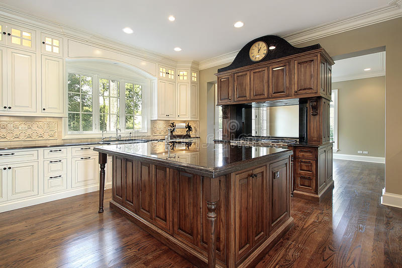 Download Kitchen In New Construction Home Stock Image - Image of floor, decor: 10259341