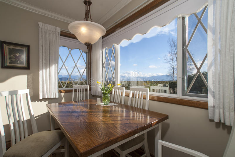 Kitchen Nook with Sunny Day View. stock images