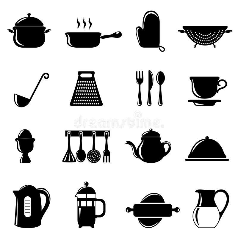 Kitchen Objects Set Stock Photos