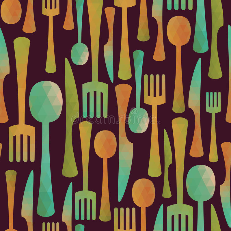 Kitchen pattern vector illustration