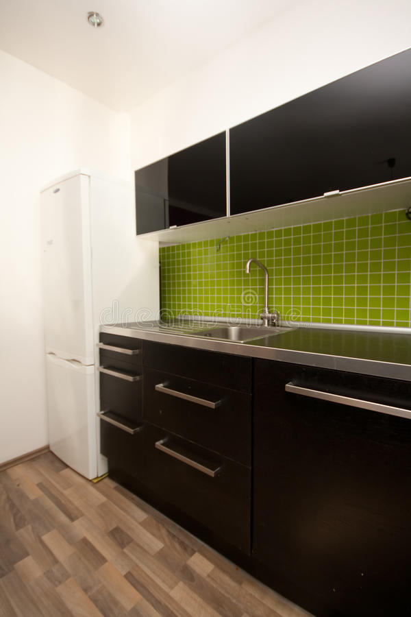 Download Kitchen stock photo. Image of home, black, green, indoor - 34017158