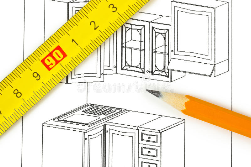 Kitchen Plan Stock Photos