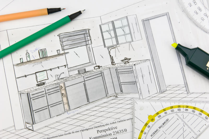 Download Kitchen Planning Royalty Free Stock Image - Image: 9996806