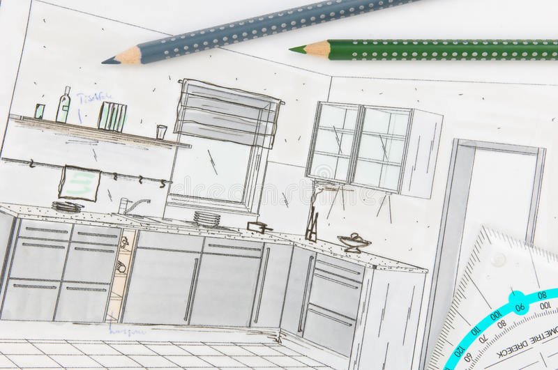 Download Kitchen planning stock photo. Image of scheduling, individual - 9996826