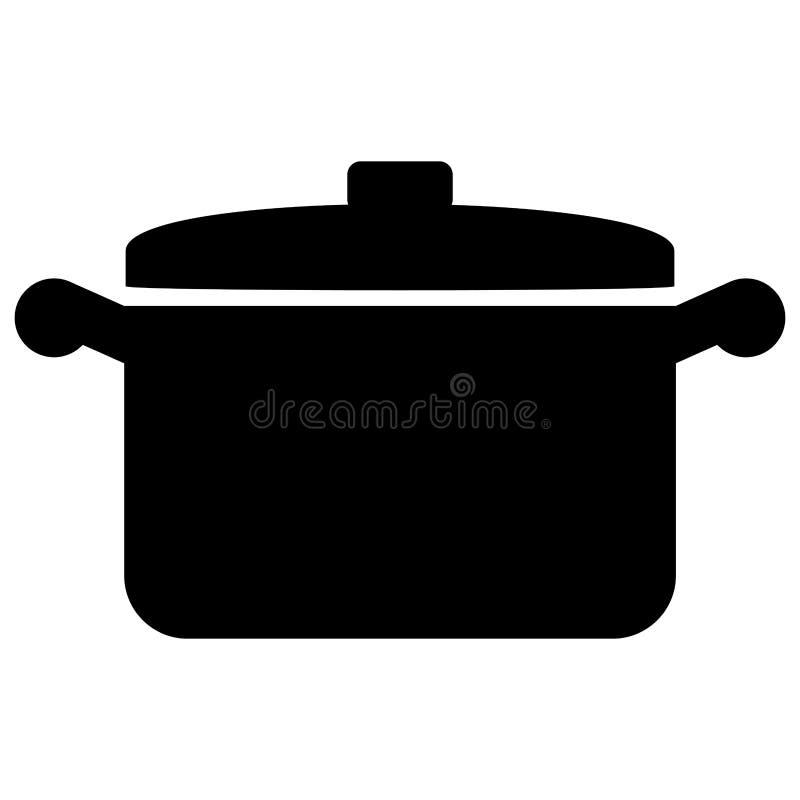 Kitchen pot icon stock illustration