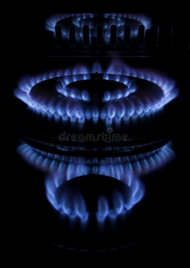 Download A Kitchen Range On Black Background Stock Photo - Image of fire, dark: 12623762