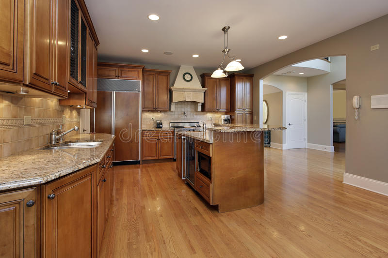 Kitchen In Remodeled Home Royalty Free Stock Photos