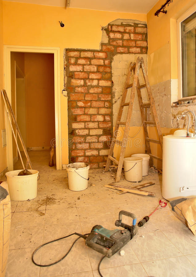 Download Kitchen renovation stock photo. Image of construction - 19846344