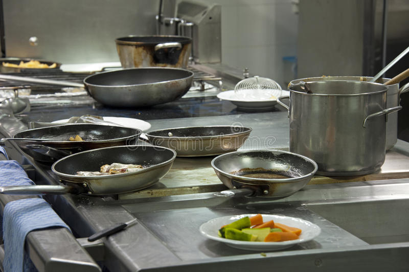 Kitchen Restaurant Stock Image