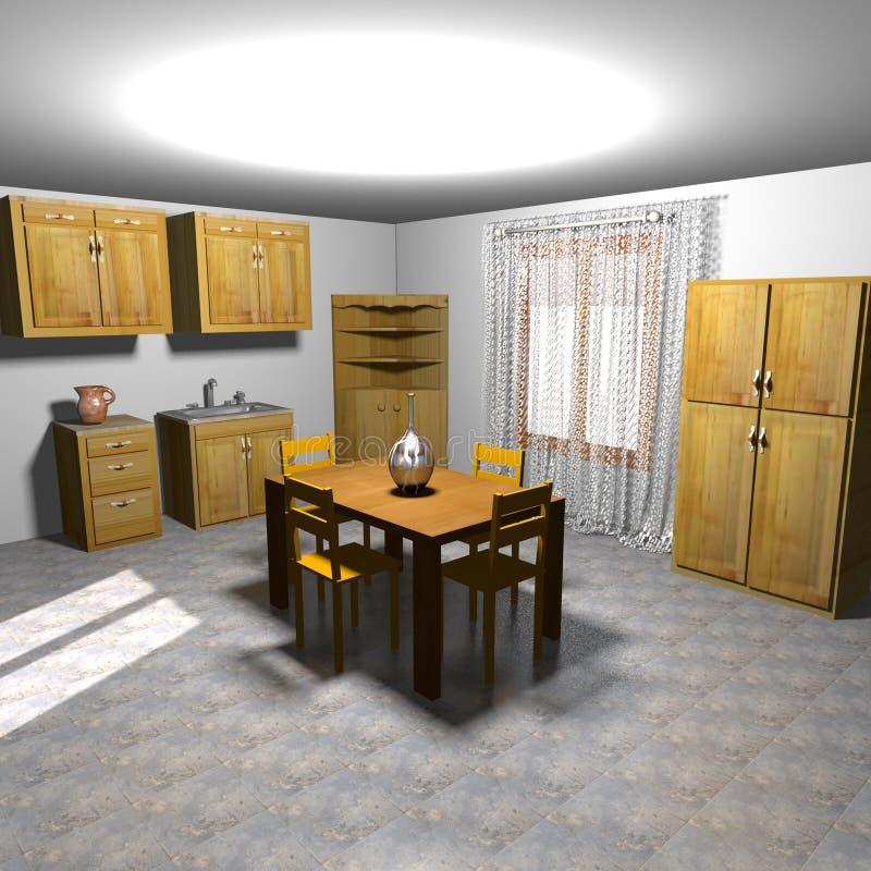 Kitchen retro royalty free illustration