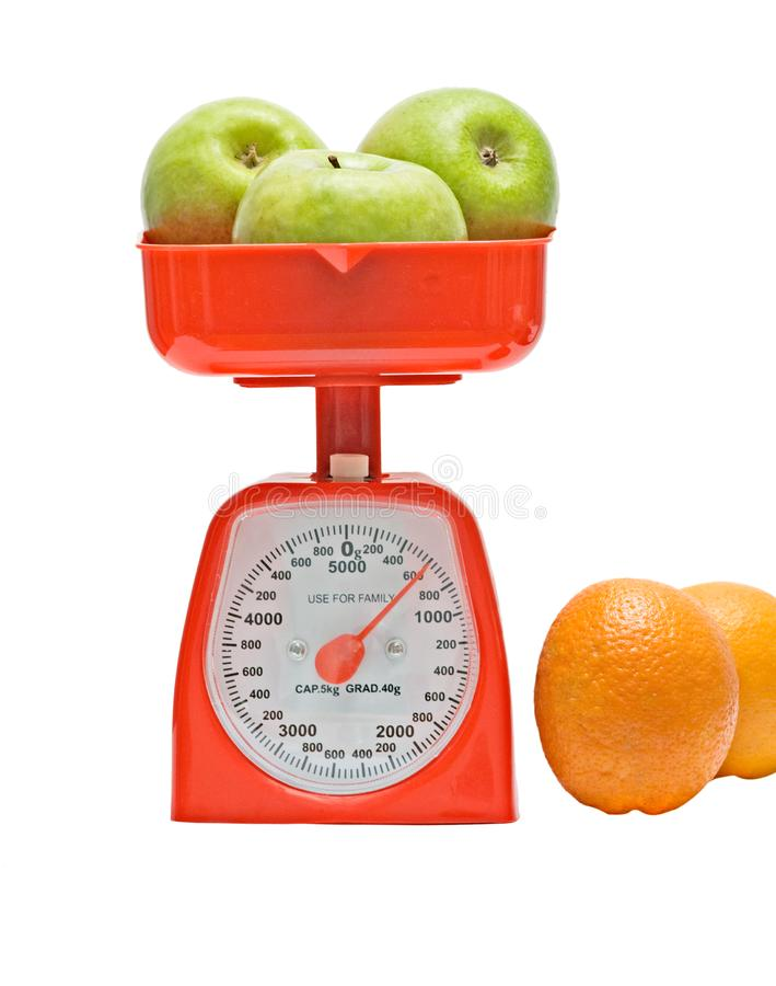 Download Kitchen Scale Weighting Apples Stock Image - Image of food, handy: 9378579