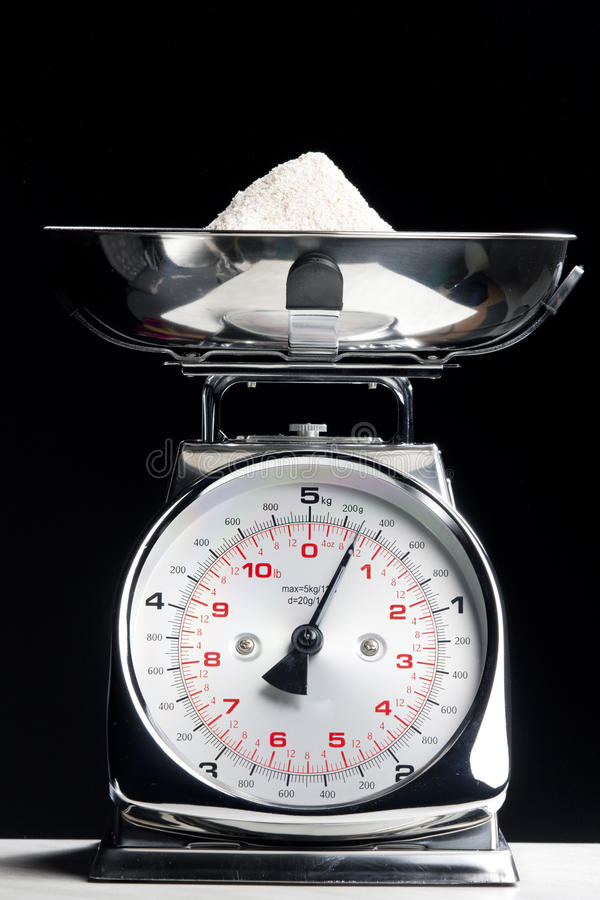 Kitchen scales royalty free stock photo