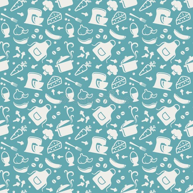 Kitchen seamless pattern. Vector background. vector illustration