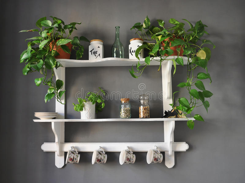 Download Kitchen Shelf Shabby Chic Royalty Free Stock Images - Image: 13660869