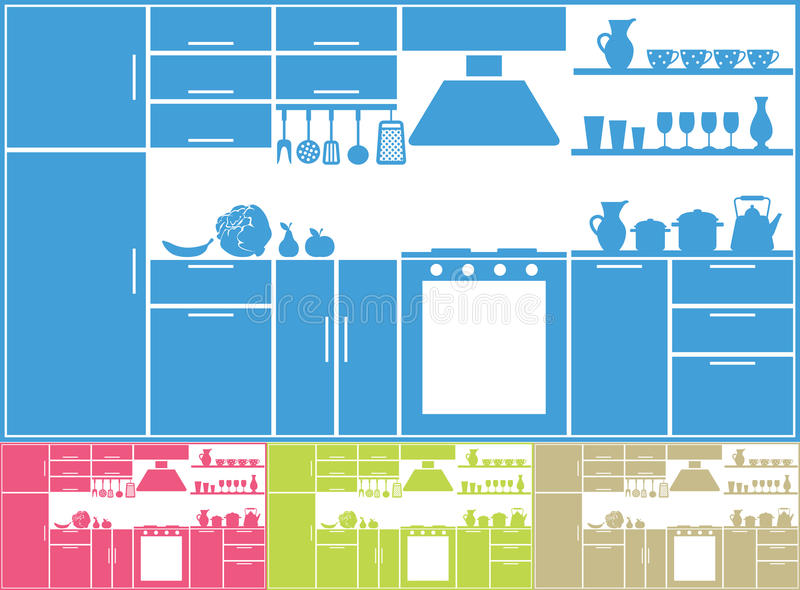 Kitchen silhouette vector illustration