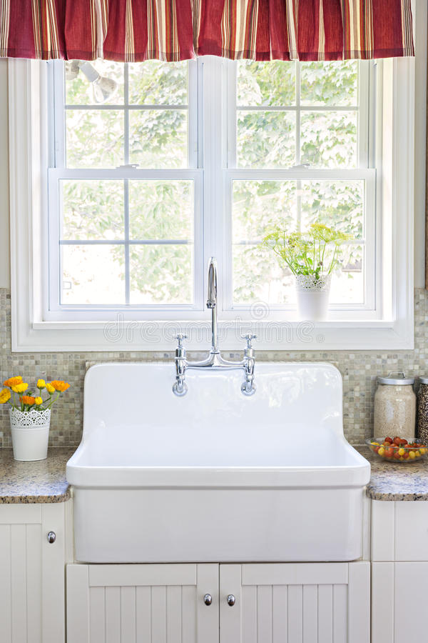 Kitchen sink and counter royalty free stock photo