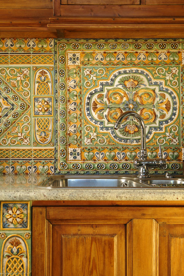 Kitchen sink and tap royalty free stock photography