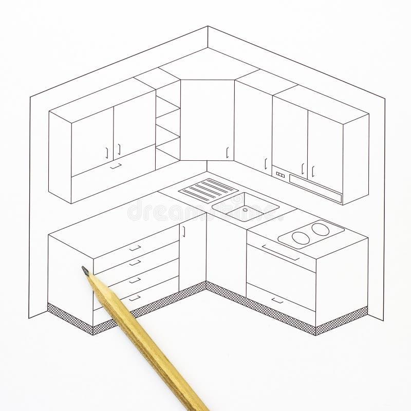 Dream Kitchen Design Drawing