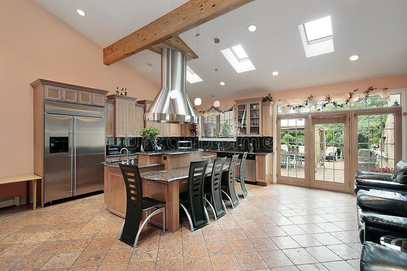 Download Kitchen With Skylights Stock Image. Image Of Upscale   12656817