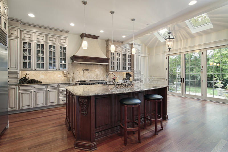 Kitchen With Skylights Stock Image Image Of Marble