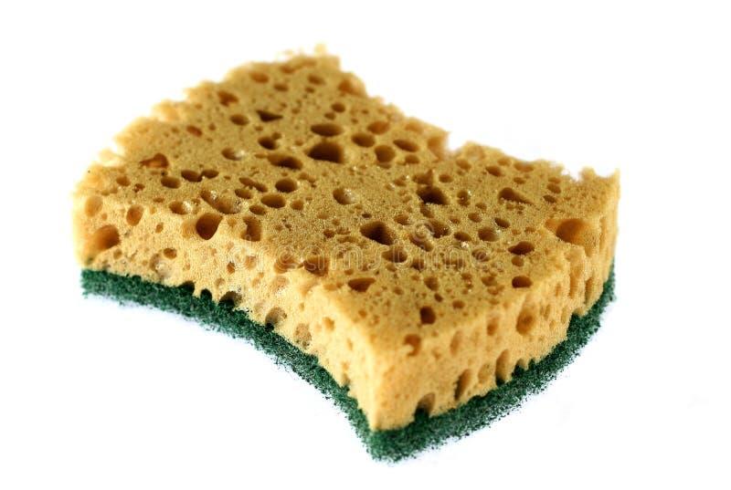 Kitchen Sponge Isolated On A White Stock Image