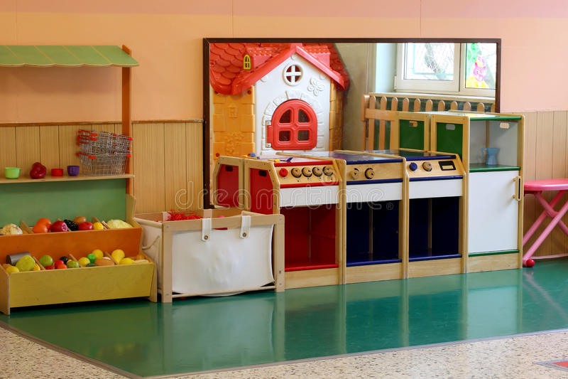 kitchen and stall greengrocer in the kinder stock photos