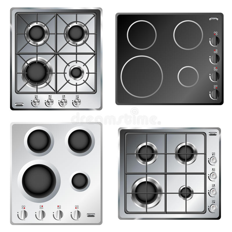 Free Kitchen Stove Hob Set Royalty Free Stock Photo - 31449305