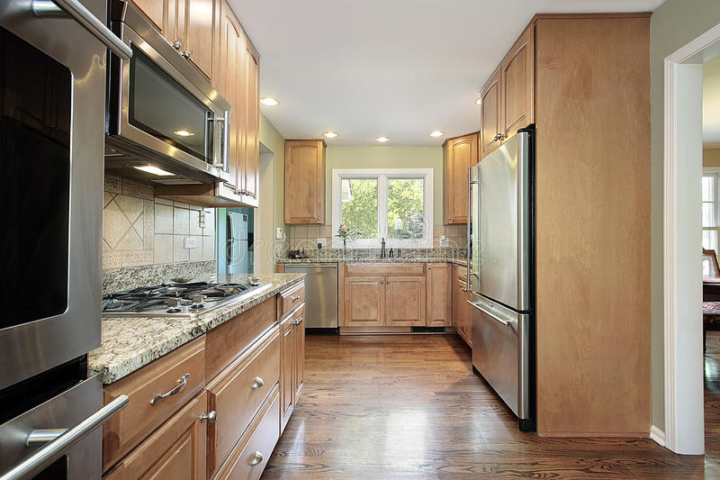 Kitchen in suburban home royalty free stock photo