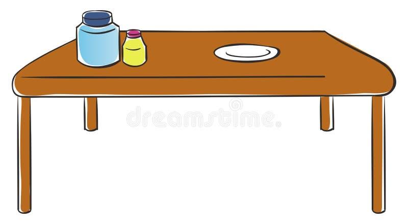 Kitchen table vector illustration