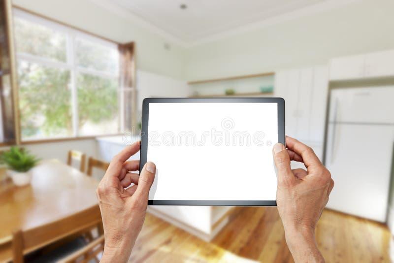 Kitchen Tablet Design Technology stock photo
