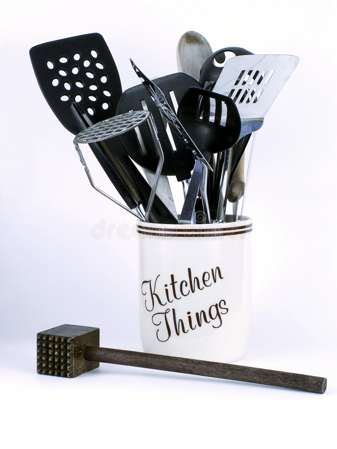 Kitchen Things with Tenderizer royalty free stock photo