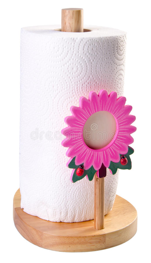 Download Kitchen Tissue Paper In Towel Holder Stock Image - Image of full, defecate: 25359813