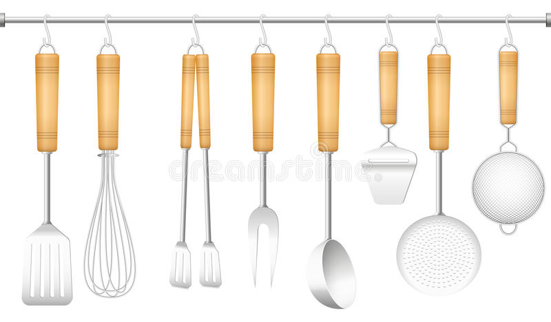 Kitchen Tool Hanger Cutlery royalty free illustration