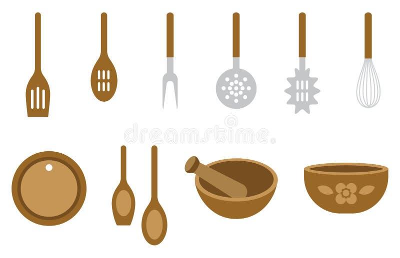 Download Kitchen tools stock vector. Illustration of dinner, long - 25178778