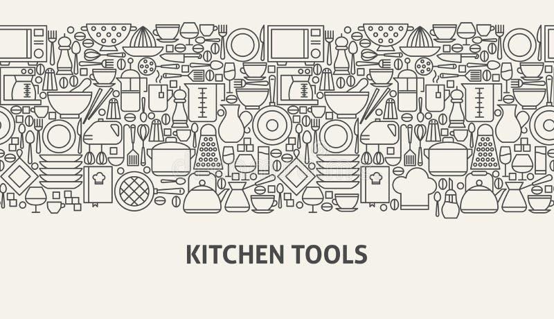 Kitchen Tools Banner Concept vector illustration
