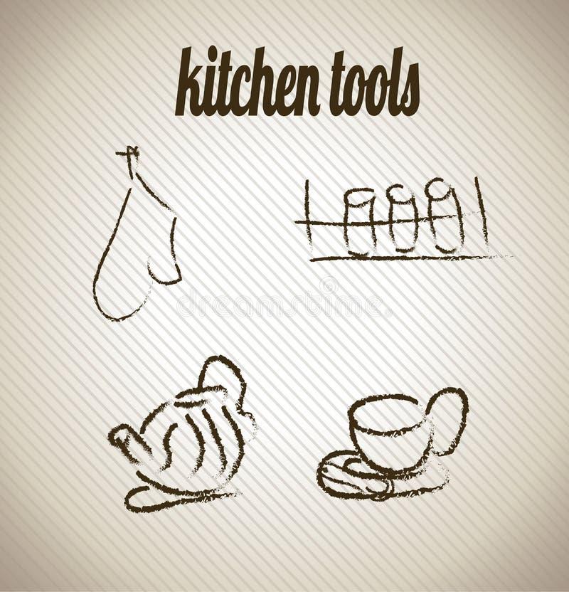 Kitchen tools vector illustration