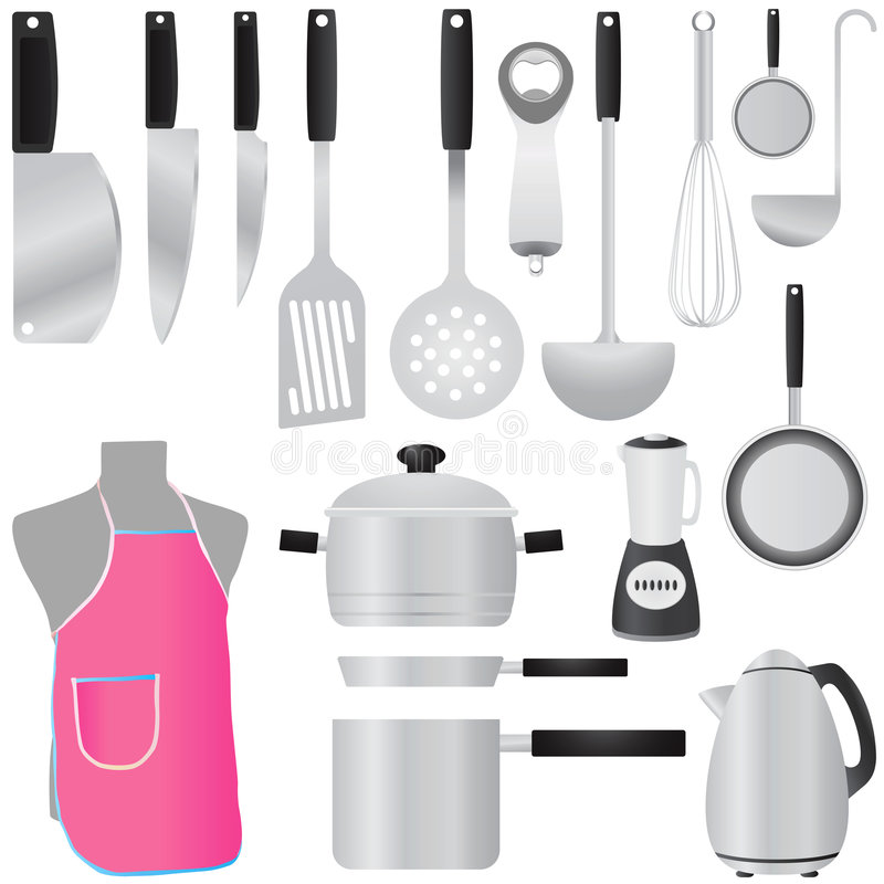Kitchen Tools Vector Royalty Free Stock Photo