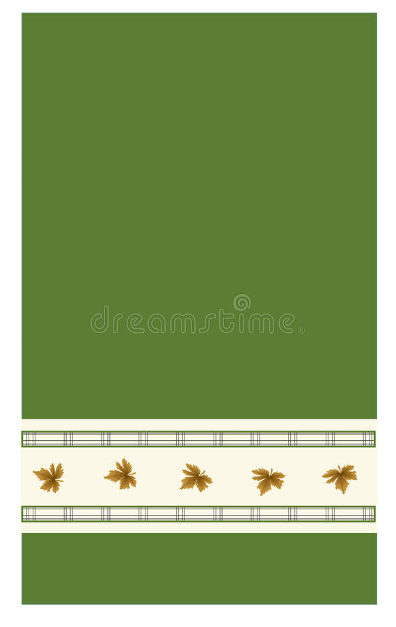 Download Kitchen towel stock illustration. Image of counter, leaves - 28693677