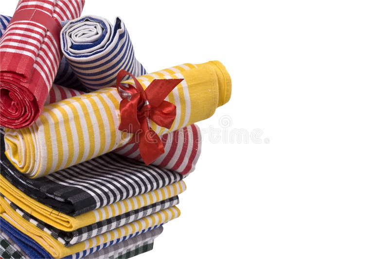 Download Kitchen towels stock photo. Image of style, launder, isolated - 9025352