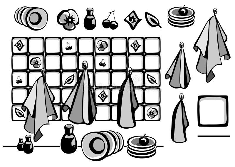 Kitchen towels vector illustration