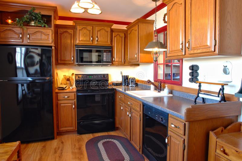 Download Kitchen In Traditional Style American House Stock Photo - Image: 12929488