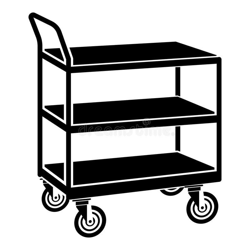 kitchen trolley icon simple black style stock vector illustration rh dreamstime com trolley clipart black and white shopping trolley clipart free