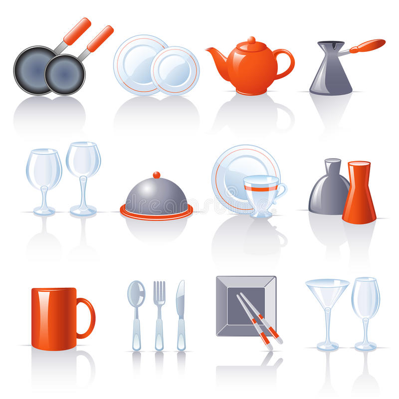 Free Kitchen Utensil Icons Royalty Free Stock Images - 14554529