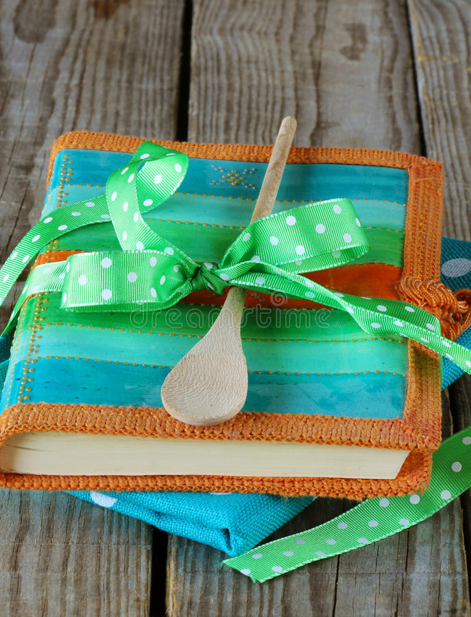 Kitchen Utensil Kit With Notebook For Recipe Stock Images