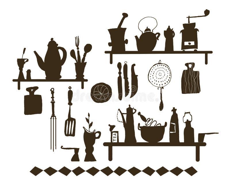 Kitchen utensil (Vector) stock illustration