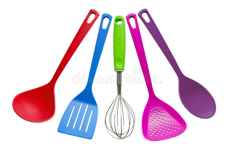 Kitchen utensils stock photo